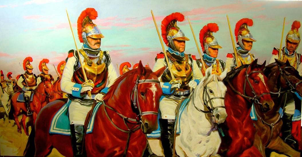 Железные люди.Атака французской кавалерии.х.м.100х200.2012